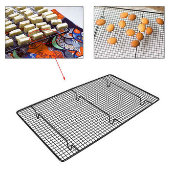 Non-Stick Stainless Steel Bread Pie Muffin Biscuits Cake Pastry Cooling Tray Baking Wire Bake Oven Grid Holder Airing Drying Net