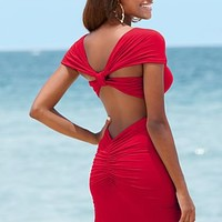 Twist back ruched top from VENUS
