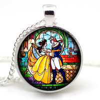 Beauty and the Beast Necklace - Beauty and the Beast Jewelry - Disney neckace - Disney jewelry - Princess Belle - Belle jewlery