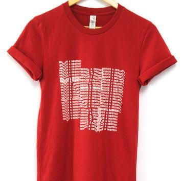 Seduce and Destroy Red Graphic Unisex Tee