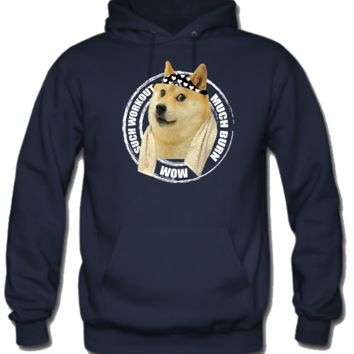 Such Workout Much Burn - Doge Workout Hoodie