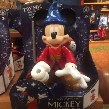 Disney Parks Mickey Sorcerer's Apprentice Talking Figure New with Box