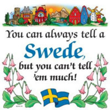 Kitchen Wall Plaques: Tell A Swede