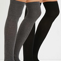 Ribbed Over-the-Knee Socks Pack