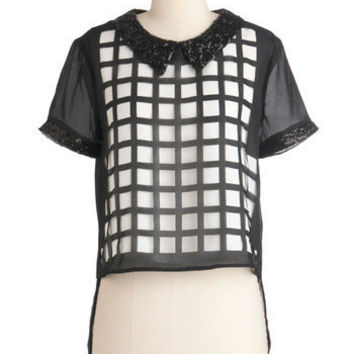 Who, What, Square Top | Mod Retro Vintage Short Sleeve Shirts | ModCloth.com