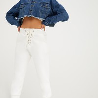 Mid Wash Cropped Denim Jacket