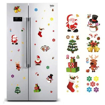 Christmas Window Sticker Santa Claus/Snowman/Elk Glass Sticker Xmas Christmas Decorations for Home Natal New Year Gift Noel