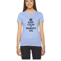 Keep Calm And Marathon On - Women's Tee