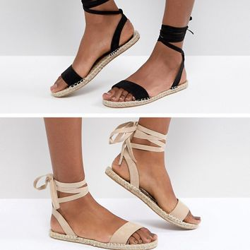 ASOS JENICA Two Pack Espadrille Sandals at asos.com