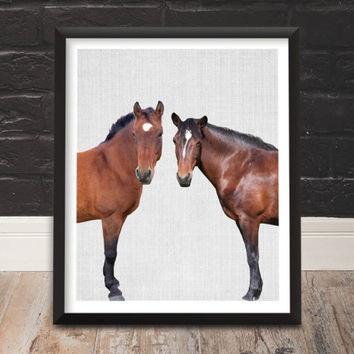 Farmhouse Wall Decor, Wall Hanging Prints, Nursery Art, Horse Photo, Farm Animals, Digital Download Printable Art, Farmhouse Decor, Horses