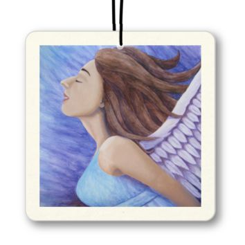 Air Goddess Flying  - Air Freshener of Angel Acrylic Paint and Watercolor Pencil Fine Art