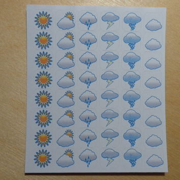 WEATHER - planner sticker - weather icons - colored
