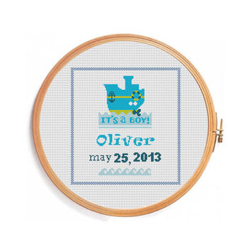 Digital personalized pattern for boy / INSTANT DOWNLOAD