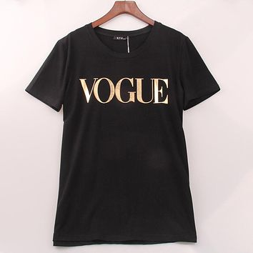 100% Cotton 8 Colors S-4XL T Shirt Women VOGUE Printed T-shirt Women Tops Tee Shirt Femme Sale Casual Sakura