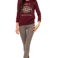 Obey The Veni Vidi Vici Crewneck in Burgundy : Karmaloop.com - Global Concrete Culture