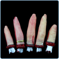 5pc Halloween Severed Fingers
