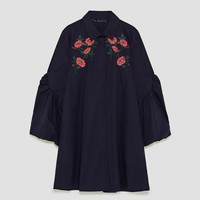 EMBROIDERED SHIRT DRESSDETAILS