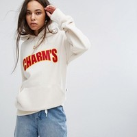 Charms Oversized Hoodie With Logo at asos.com