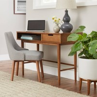 Better Homes and Gardens Flynn Mid Century Modern Desk, Pecan - Walmart.com