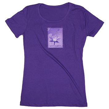 Airbourn: Women's Vacation Dreams Flower and Kites T-shirt, Purple
