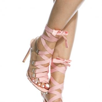 Blush Faux Patent Leather Vinyl Lace Up Heels @ Cicihot Heel Shoes online store sales:Stiletto Heel Shoes,High Heel Pumps,Womens High Heel Shoes,Prom Shoes,Summer Shoes,Spring Shoes,Spool Heel,Womens Dress Shoes