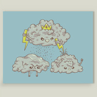 Rain of Terror Art Print by spookylili on BoomBoomPrints