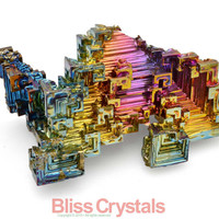 "37 gm RAINBOW BISMUTH 2.1"" Crystal Specimen Stone Healing - Reiki, Wicca, Metaphysical Jewelry & Crafts #S5"