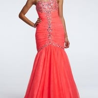 Strapless Trumpet Prom Dress with Cut Glass Beads - David's Bridal