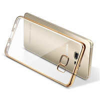Silicone Clear Case For Samsung Galaxy S7 S7 Edge Plating Gilded TPU Phone silicone soft Back Case Cover For Samsung S6 Edge S5