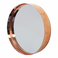 Copper Round Cake Tin Mirror