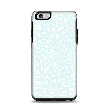 The Light Teal Blue & White Floral Sprout Apple iPhone 6 Plus Otterbox Symmetry Case Skin Set