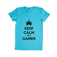 Keep Calm I'm A Gamer Game Video Games Computers Xbox Playstation PC Gaming Nerd Nerds Geek Geeks Unisex Adult T Shirt SGAL3 Women's Shirt