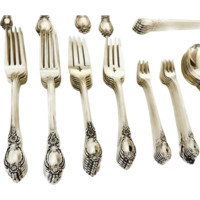 Oneida Sterling Flatware 118 pcs Stanton Hall Heirloom 12 Serving Pieces