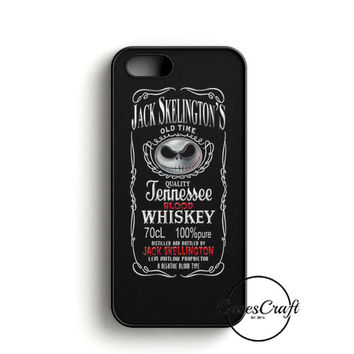 Jack Skellington Whiskey Daniels iPhone 5/5S/SE Case