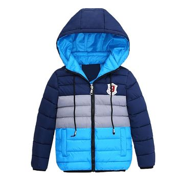 Blue, Orange, Yellow Stripes Collection Kid Child Baby Toddler New Born Infant Winter Snow Coat