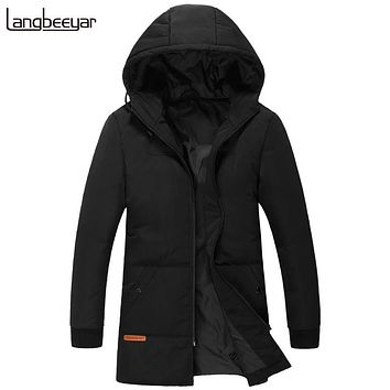 New Fashion Brand Clothing Duck Down Jacket Men Hooded Winter Jacket Men Parka Black Mens Winter Jackets And Coats m-4XL