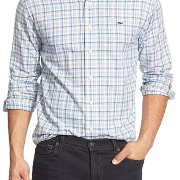 Men's Vineyard Vines 'Hampton River' Slim Fit Plaid Sport Shirt,