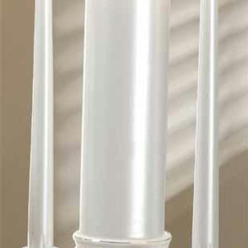 4 Wedding Unity Candle Set - Comes With(2)pearlized Taper Candles And(1)pearlized Pillar Candle