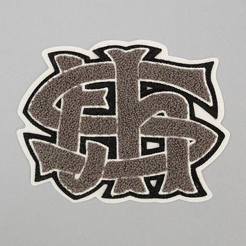 TH-S Monogram Chenille Patch, Grey