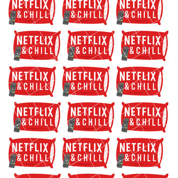 Netflix and Chill Date Night TV Time Popcorn Movie Sticker Set - Planner Stickers - Planner Decorations - Kikki-K & Erin Condren Sticker
