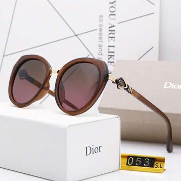 DIOR Fashionable Women Cute Sun Shades Eyeglasses Glasses Sunglasses 3#