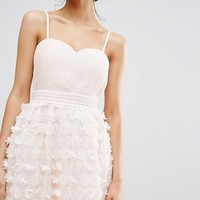 Little Mistress Floral Bandeau Prom Dress at asos.com