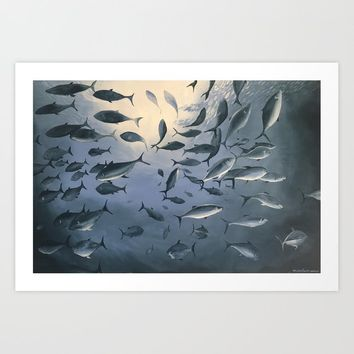School of Fish 2 Art Print by wintoons