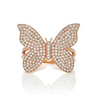 Large Pave Butterfly Ring | Moda Operandi