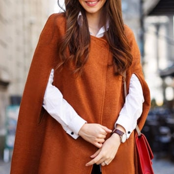 Red Brown Cape