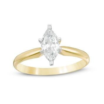 1 CT. Marquise Diamond Solitaire Engagement Ring in 14K Gold