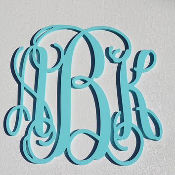 24'' Custom Wood Monogram in Vine Font, Wooden wall monogram, photo prop, nursery decor