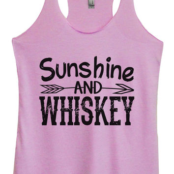 Womens Fashion Triblend Tank Top - Sunshine And Whiskey - Tri-1406
