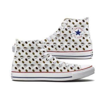 DCCKHD9 Coffee Emoji Converse High Top Custom Chucks