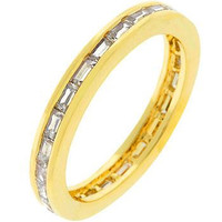 Golden White Eternity Ring, size : 05